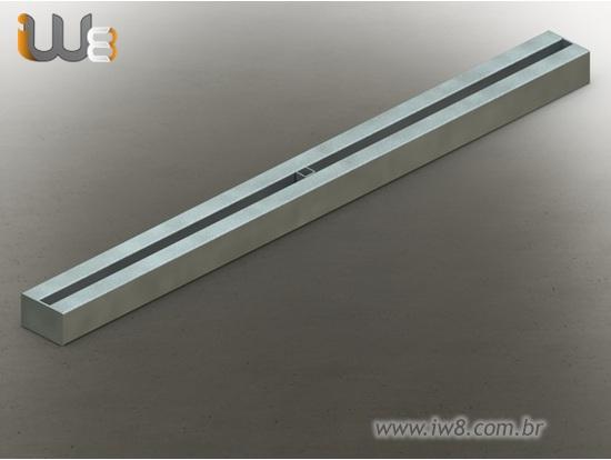 Foto do produto - Viga Metálica Alinhadora tipo Cinta de 1,5m para Travar Formas de Pilares