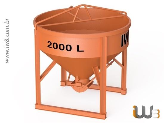 Balde 2000L para Concreto
