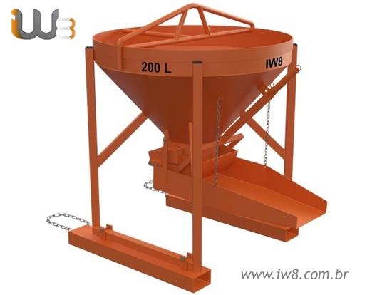 Balde 200L Lateral para Manipulador