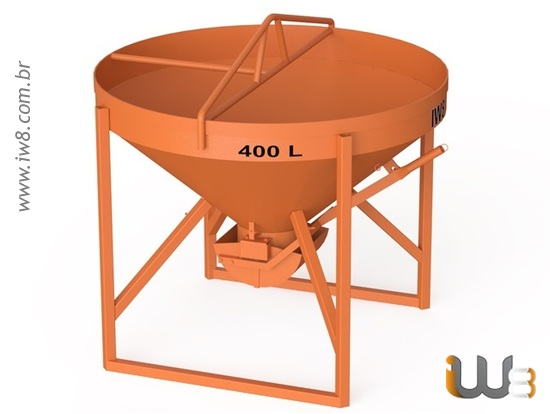 Balde 400L de Concreto para Grua
