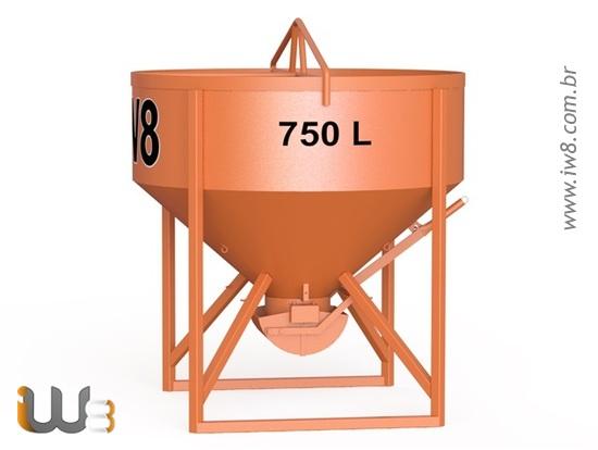 Balde 750L com Descarga Central