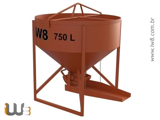 Balde 750L para Concreto