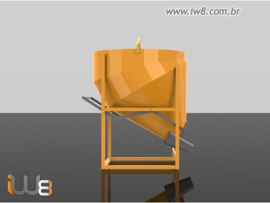 Balde Caçamba 500L para Concreto
