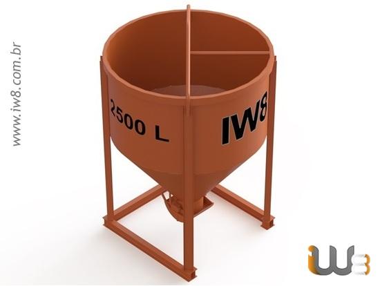 Balde de Aço para Concreto