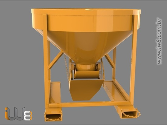 Balde de Concreto 500L Manipulador