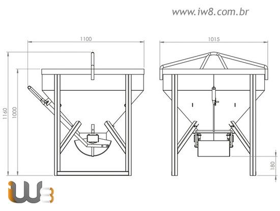 Balde de Ferro para Construção 300 Litros