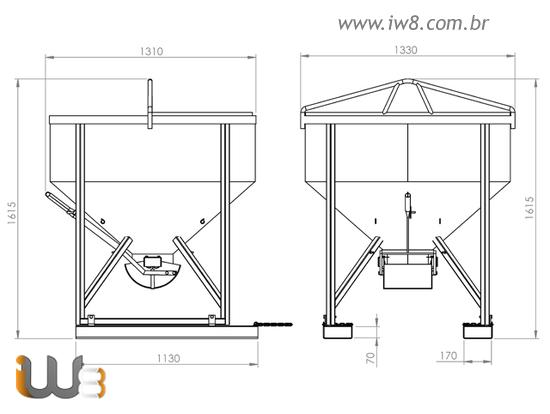 Balde para Construção Civil 750L