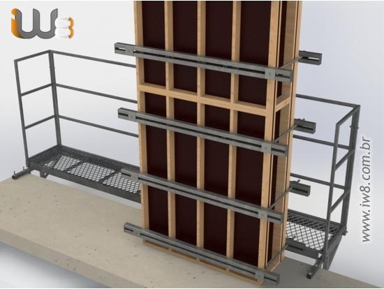 Foto do produto - Plataforma Metálica para Concretar Pilar