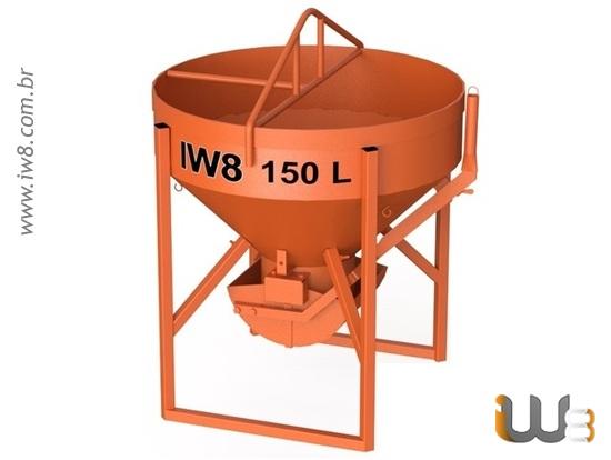 Caçamba 150L de Concreto para Grua