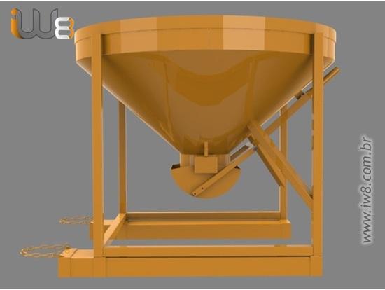 Caçamba 400L Concreto Manipuladores