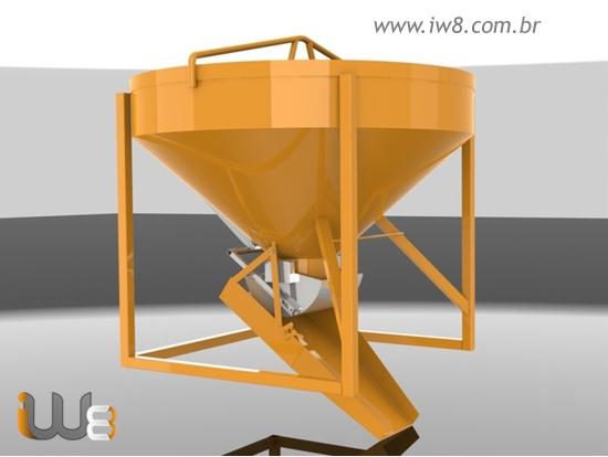Caçamba Balde 400L Concreto