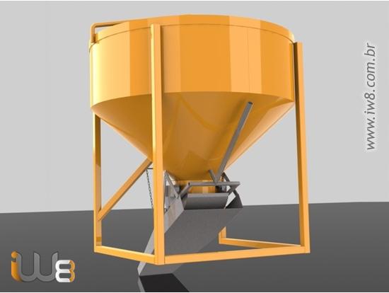 Caçamba Balde Concreto Grua 750L