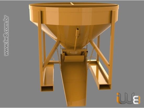 Caçamba de 500L Concreto Manipuladores