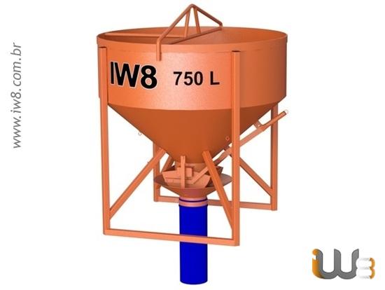 Caçamba de Grua 750L para Concreto