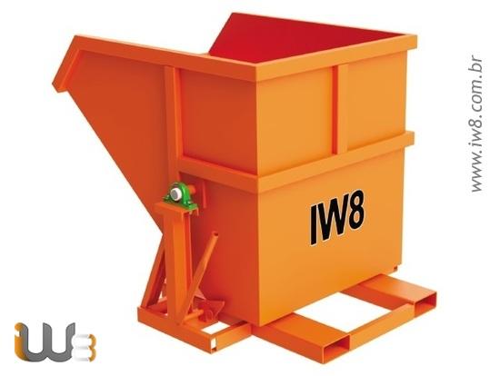 Caçamba para Cavacos de Madeira e Resíduos Industrial