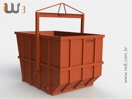 Caixa Coletora de Entulho 5m³