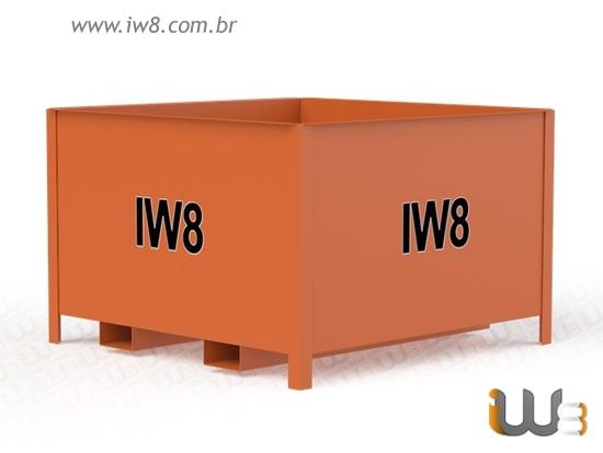 Caixa Container Metálica Sob Medida para Empilhadeira