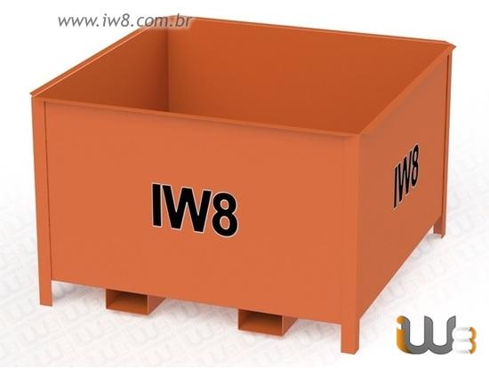 Caixa Container para Empilhadeira