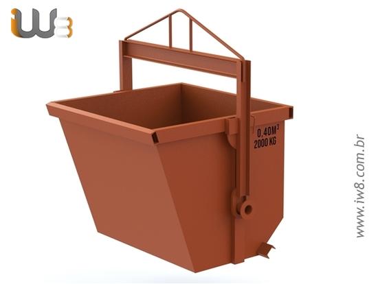 Caixa de Entulho Basculante 0.4m³ 2000kg