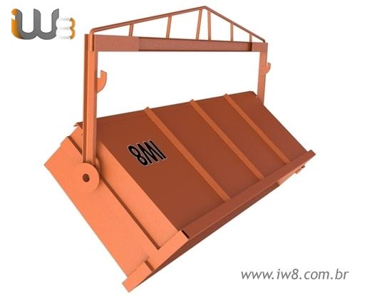 Caixa de Entulho Basculante 1,5m³ 1000kg