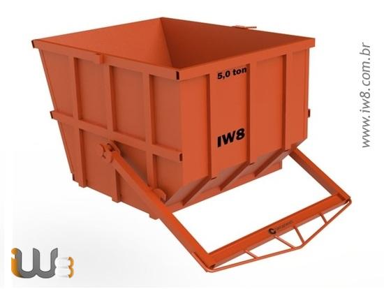 Caixa de Entulho Basculante 5m³ 8000kg