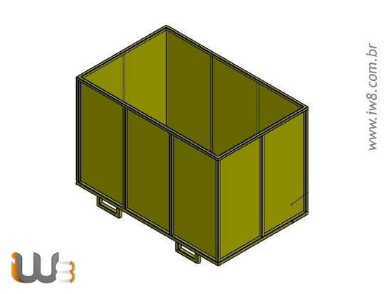 Foto do produto - Caixa Metalica para Armazenamento