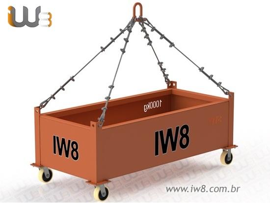 Caixa Metálica Industrial para Içamento