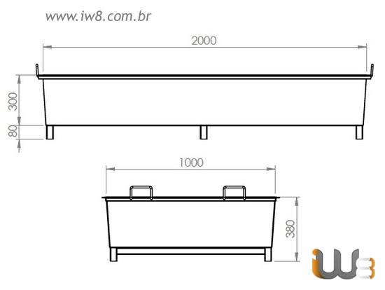 Caixa Metálica para Concreto