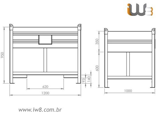 Caixa Metalica para Estoque Fabricada Sob Medida