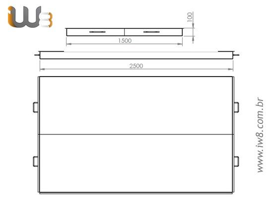 Caixa Metálica para Massa 375L Fabricada Sob Medida