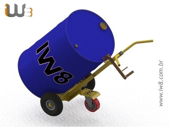 Carrinho Manual para Transporte de Tambores