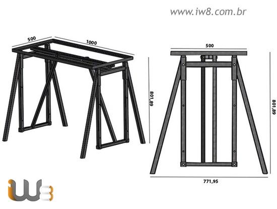 Cavalete de Ferro com Regulagem para Construção Civil