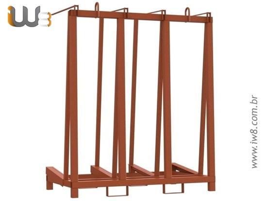 Cavalete de Ferro para Transporte de Vidros