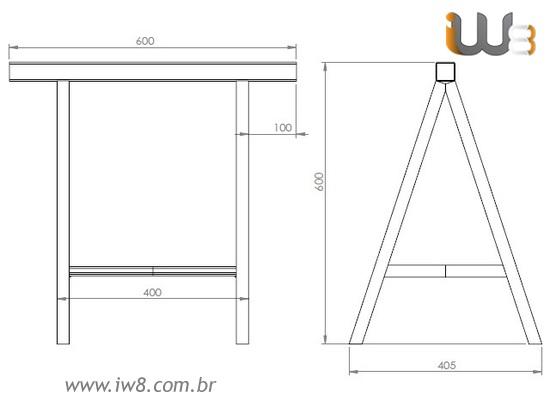 Cavalete Metalico Fixo Fabricado Sob Medida Multiuso