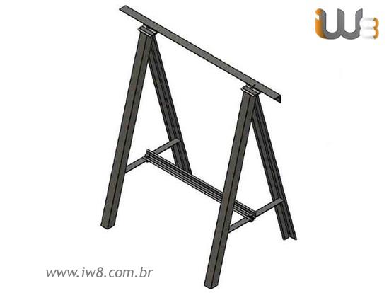 Cavalete Metalico Modular de Obra
