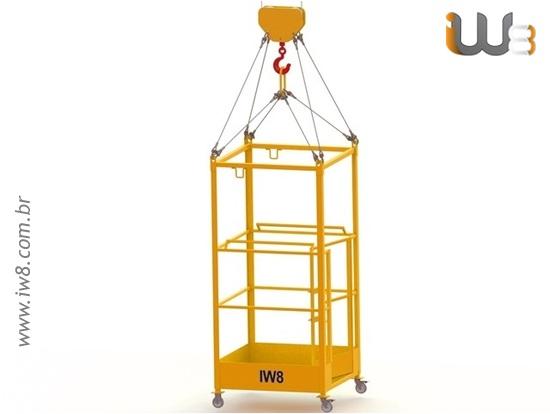 Foto do produto - Cesto Aéreo para Munck com Rodas