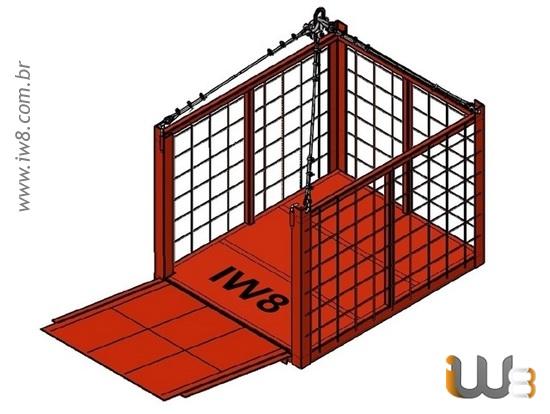 Foto do produto - Cesto Aramado 1.50m x 1.2m x 1.0m Cap. 1000kg