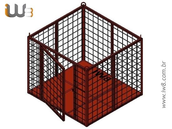 Foto do produto - Cesto de Içamento 1.7m x 1.8m x 1.5m Cap. 500kg