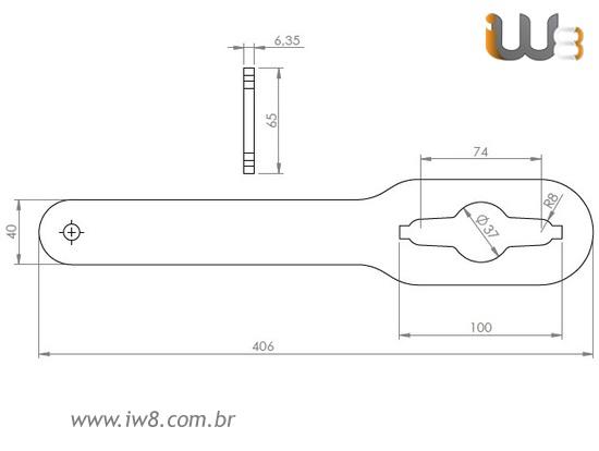 Chave Para Porca Fundida 5/8 De Barra De Ancoragem