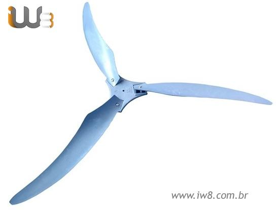 Cj Hélice para Ventilador Industrial 100cm 3 Pás