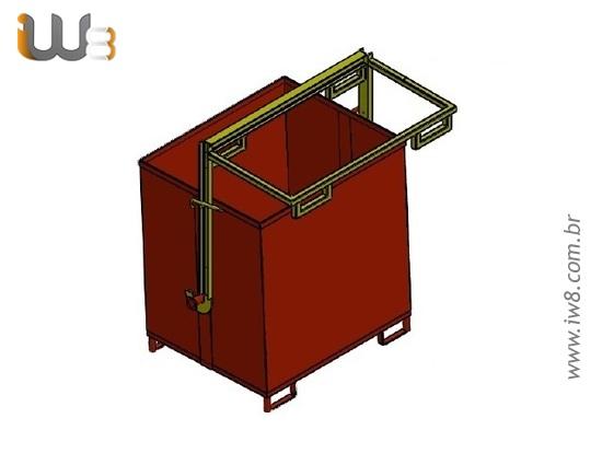 Container Basculante para Empilhadeira