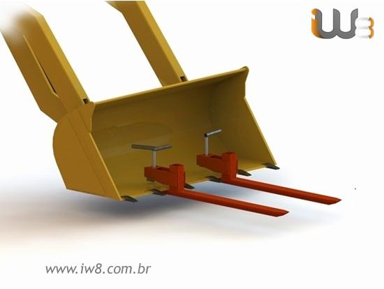 Foto do produto - Garfo para Pá Carregadeira 2000kg