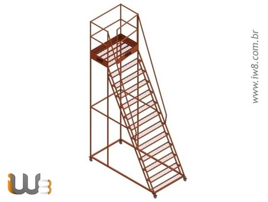 Escada com Plataforma e Andaime
