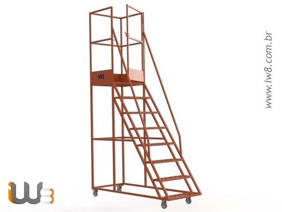 Escada com Plataforma para Almoxarifado