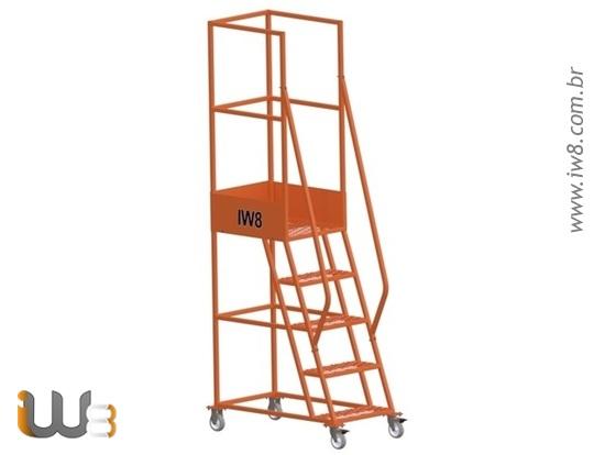 Escada com Rodas para Lugares Estreitos