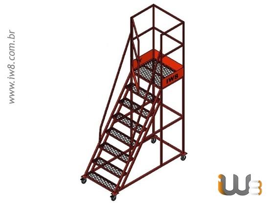 Escada de Ferro com Rodas