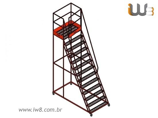 Escada de Ferro Móvel Grande