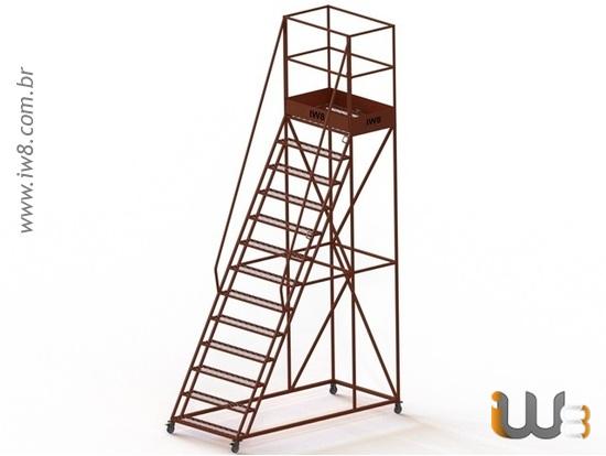 Escada de Ferro para Almoxarifado