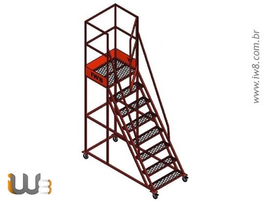 Escada de Segurança com Rodas