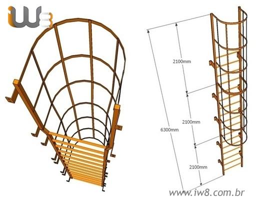 Escada Marinheiro Medidas